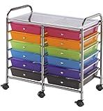Blue Hills Studio SC12MCDW Storage Cart 12-Drawer (Standard) Multi-Colored