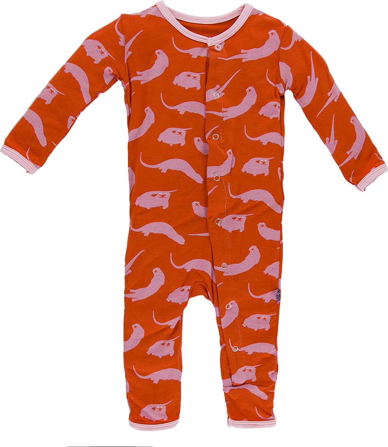 Kickee Pants Baby Girls Print Coverall Prd-kpca213-pot