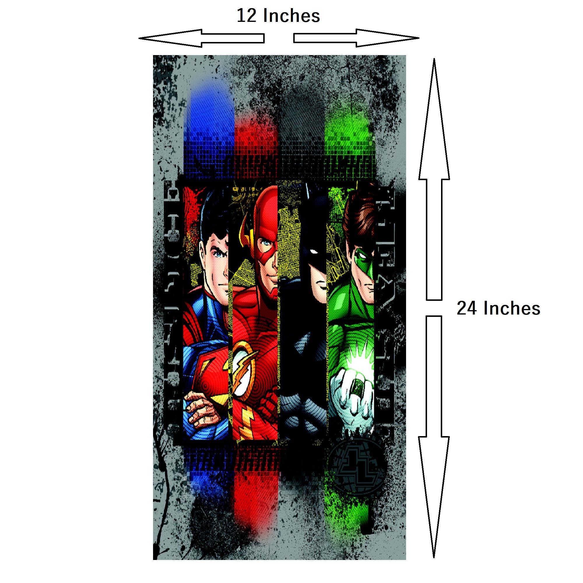 Modern Littles Justice League 5 Piece Canvas Wall Art Set Featuring Superhero Character Designs of Superman, Batman, Green Lantern and Flash Gordon, Multicolored by Modern Littles (Image #2)