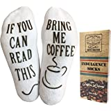 """The Original """"If You Can Read This"""" Funny Socks (Wine, Coffee, Chocolate) - Gift Idea for Women and Men - by Haute Soiree"""
