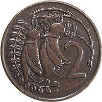 Bronze 2 Cents of New Zealand Elizabeth II Floral Design