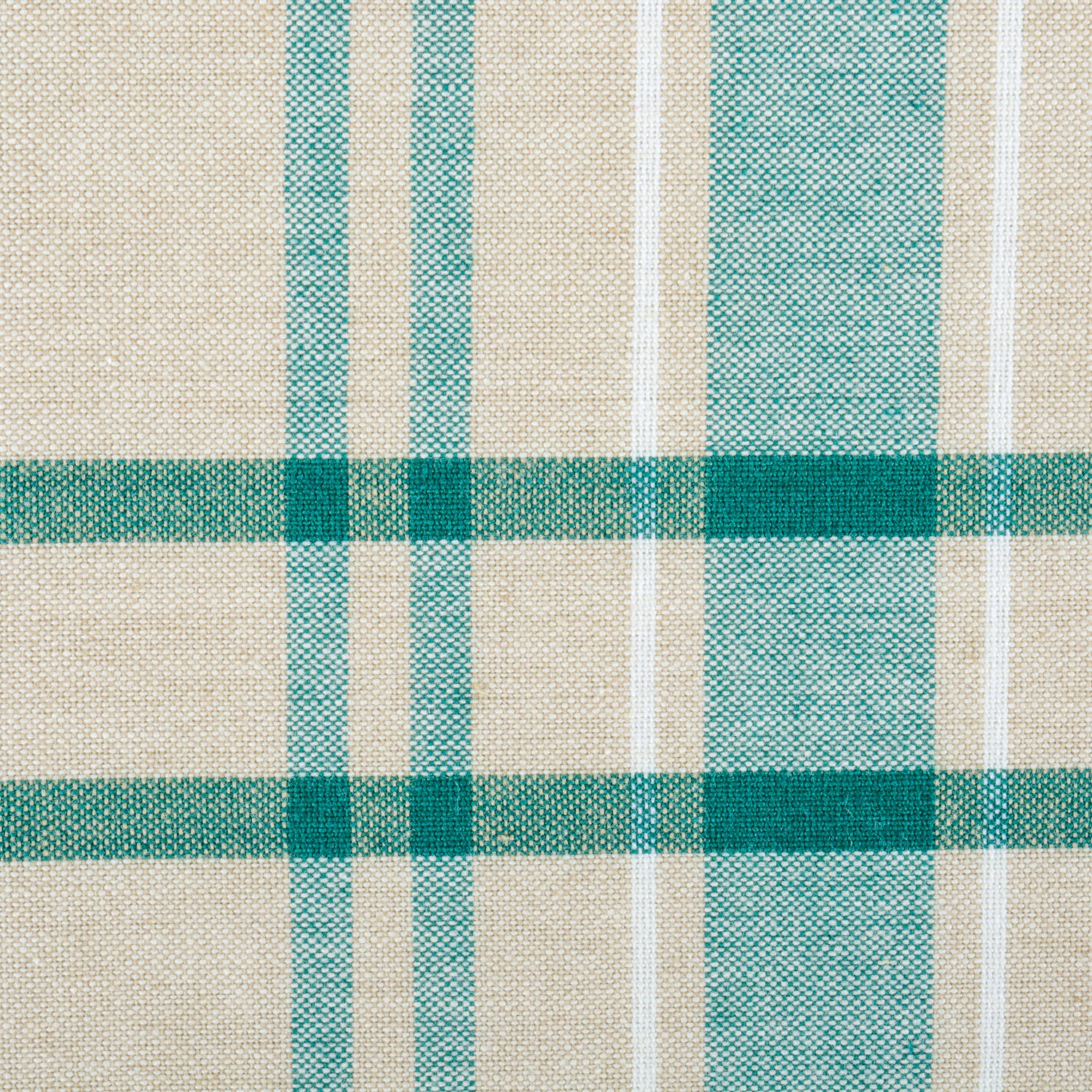DII 100% Cotton, Machine Washable, Everyday French Stripe Kitchen Tablecloth for Dinner Parties, Summer & Outdoor Picnics - 60x84 Seats 6 to 8 People, Teal by DII (Image #2)