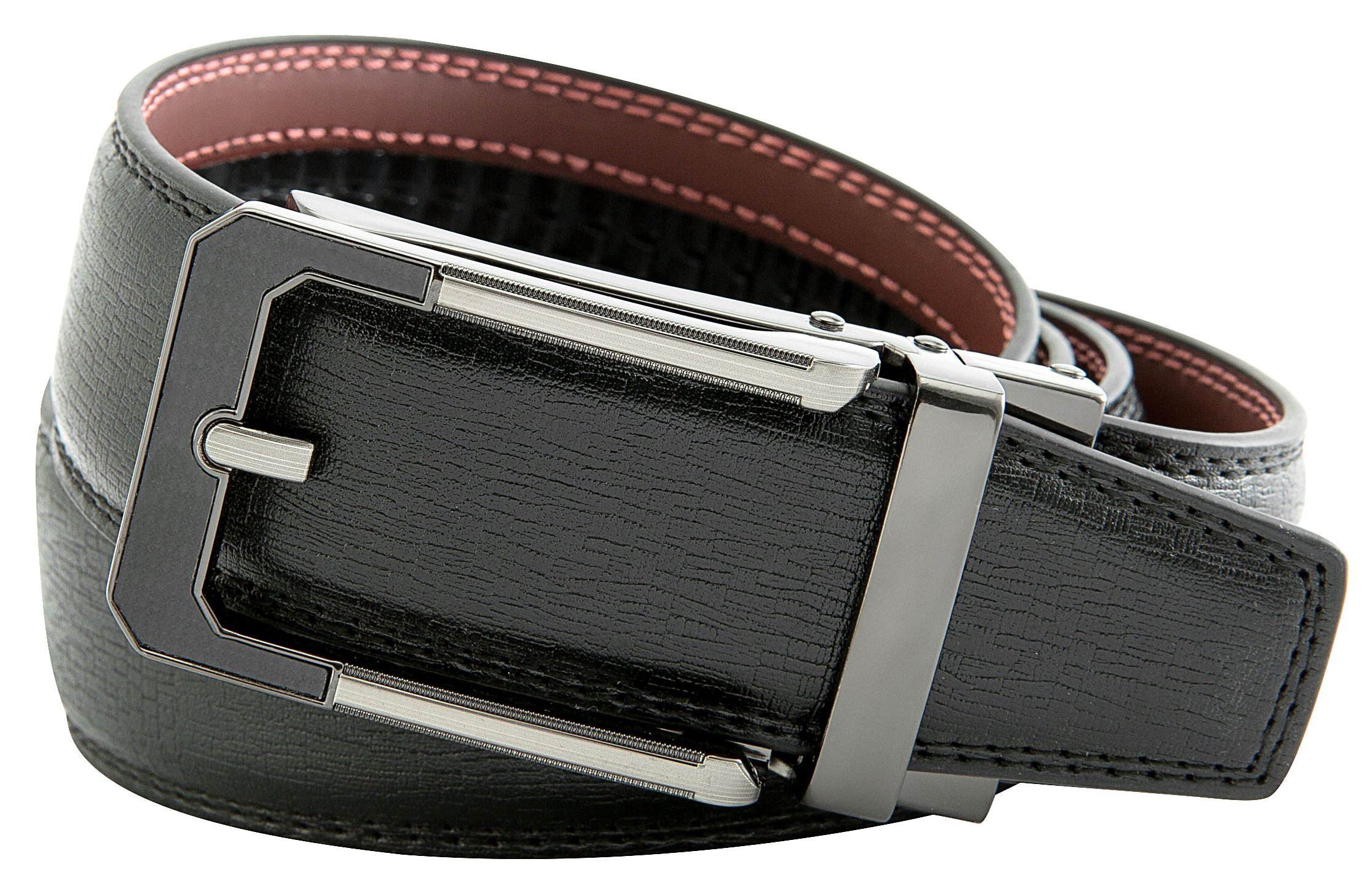 Men's Black Ratchet Belt - Black and Silver Open Style - by J. Dapper by J. Dapper (Image #3)