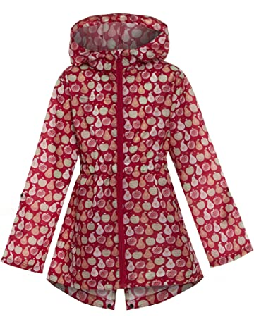 shelikes Girls Kids Children Multi Colour Shower Proof Rain Mac Outdoor Kagoul Kagool Cagoule Raincoat Festival Lightweight Jacket