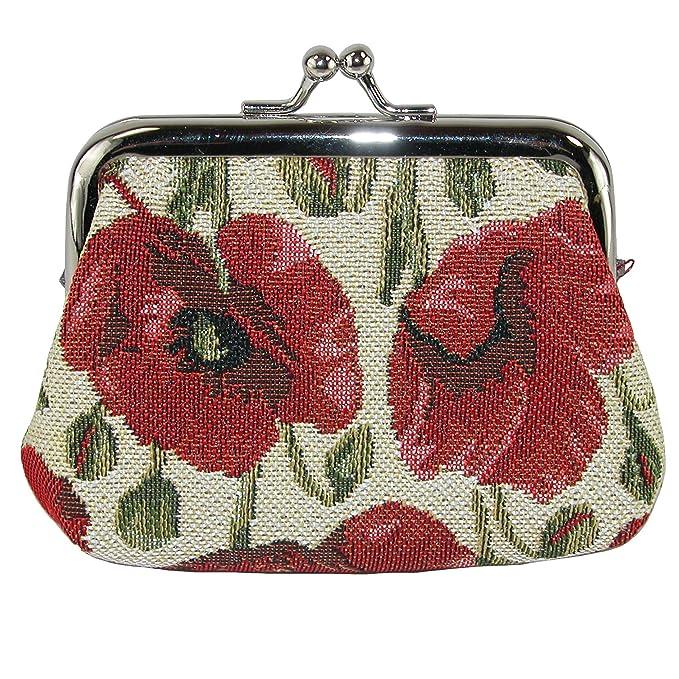 Amazon.com: CTM Mujer Poppy Tapiz de impresión cartera ...