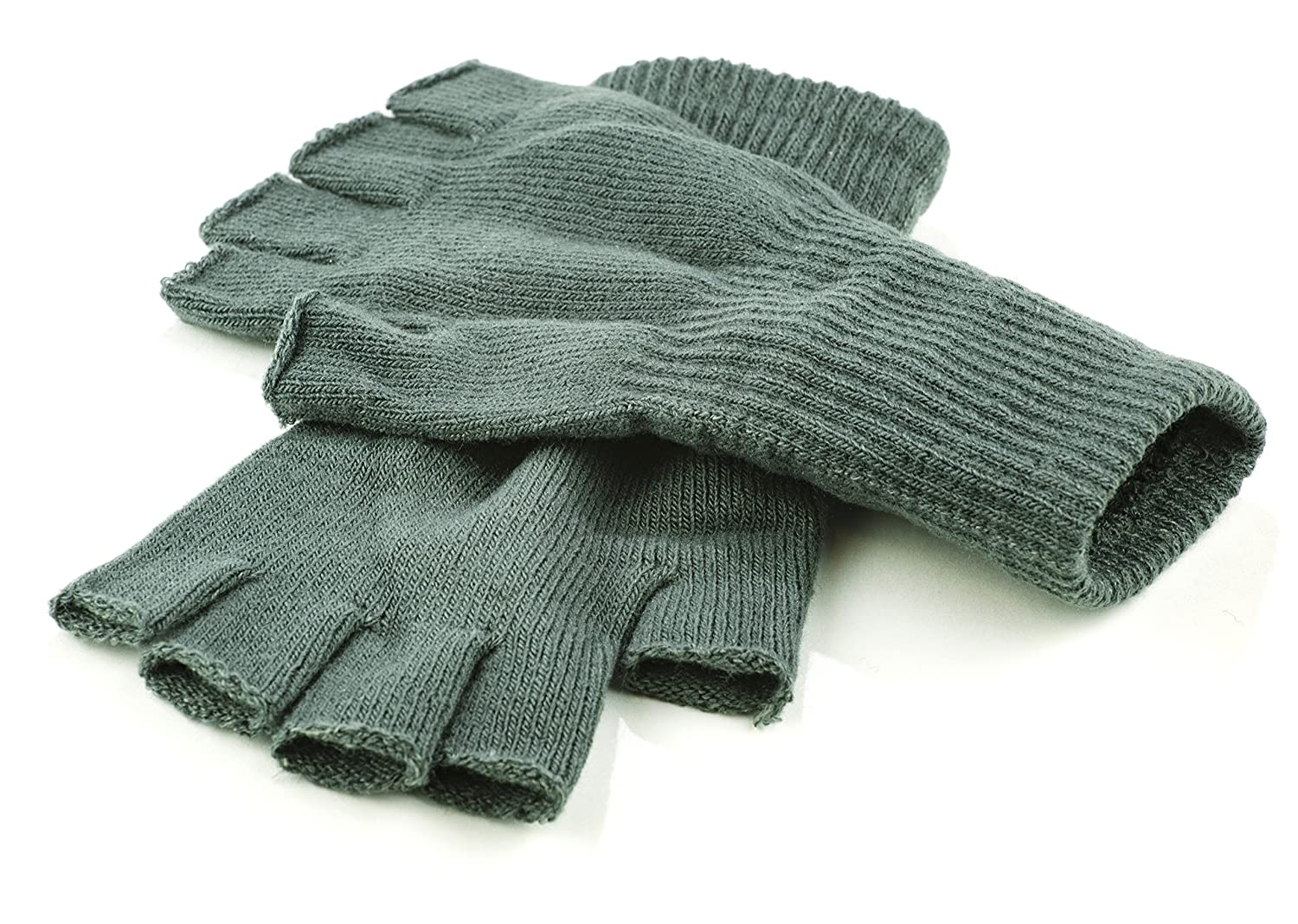 Funny Guy Mugs Warm Stretchy Knit Fingerless Gloves for Women and Men, Multiple Colors Available, One Size Fits Most Black Glove-1