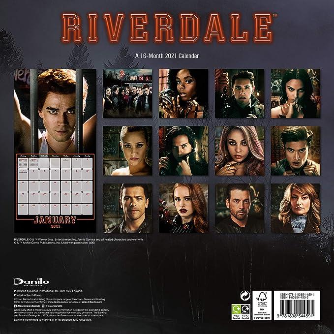 Riverdale Calendario cuadrado 2020 con pegatinas organizativas: Amazon.es: Oficina y papelería