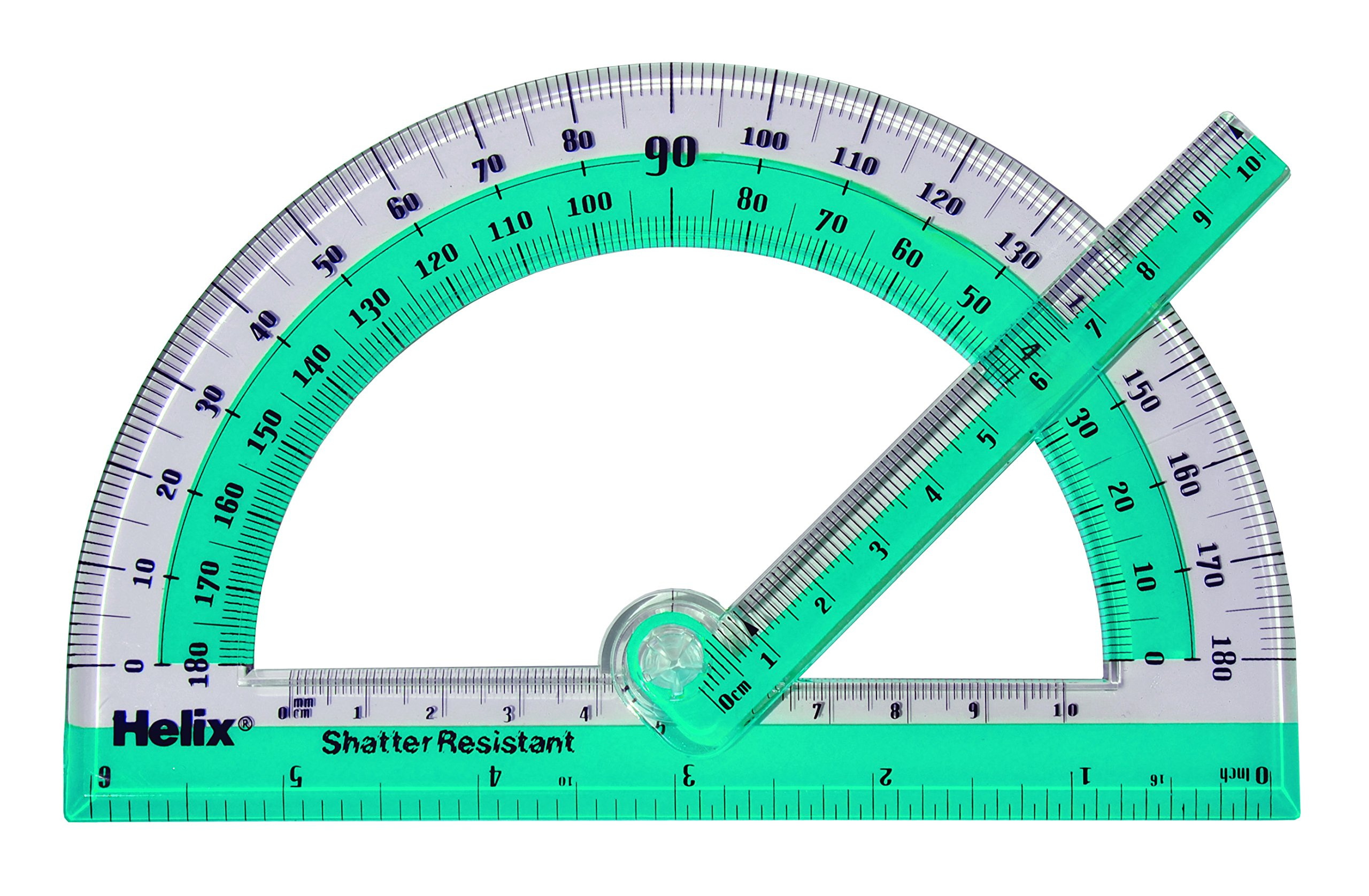 Helix 180° Shatter Resistant Swing Arm Protractor 6'' / 15cm (60009) by Maped Helix USA (Image #3)