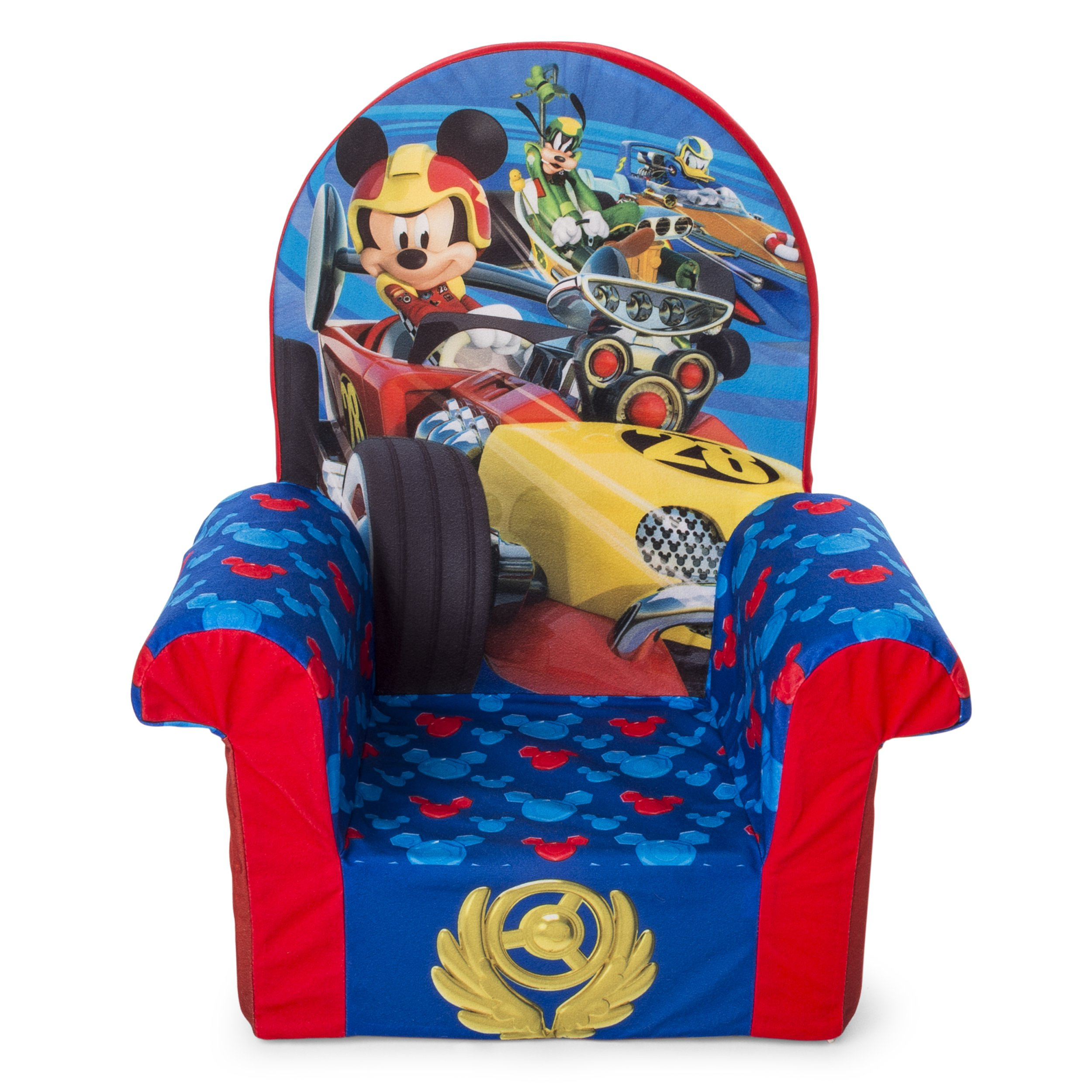 Marshmallow Furniture, Children's Foam High Back Chair, Disney Mickey Mouse Roadsters High Back Chair by Marshmallow Furniture