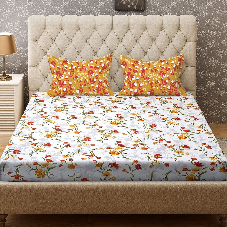 Bombay Dyeing Cynthia 120 TC Polycotton Double Bedsheet