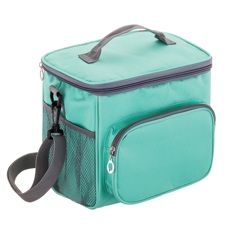 4b661ec19b95 Adult Lunch Box Insulated Lunch Bag Large Cooler Tote Bag for Men & Women,  Double Deck Heat-resistant Cooler with Adjustable Shoulder Handbag (blue)