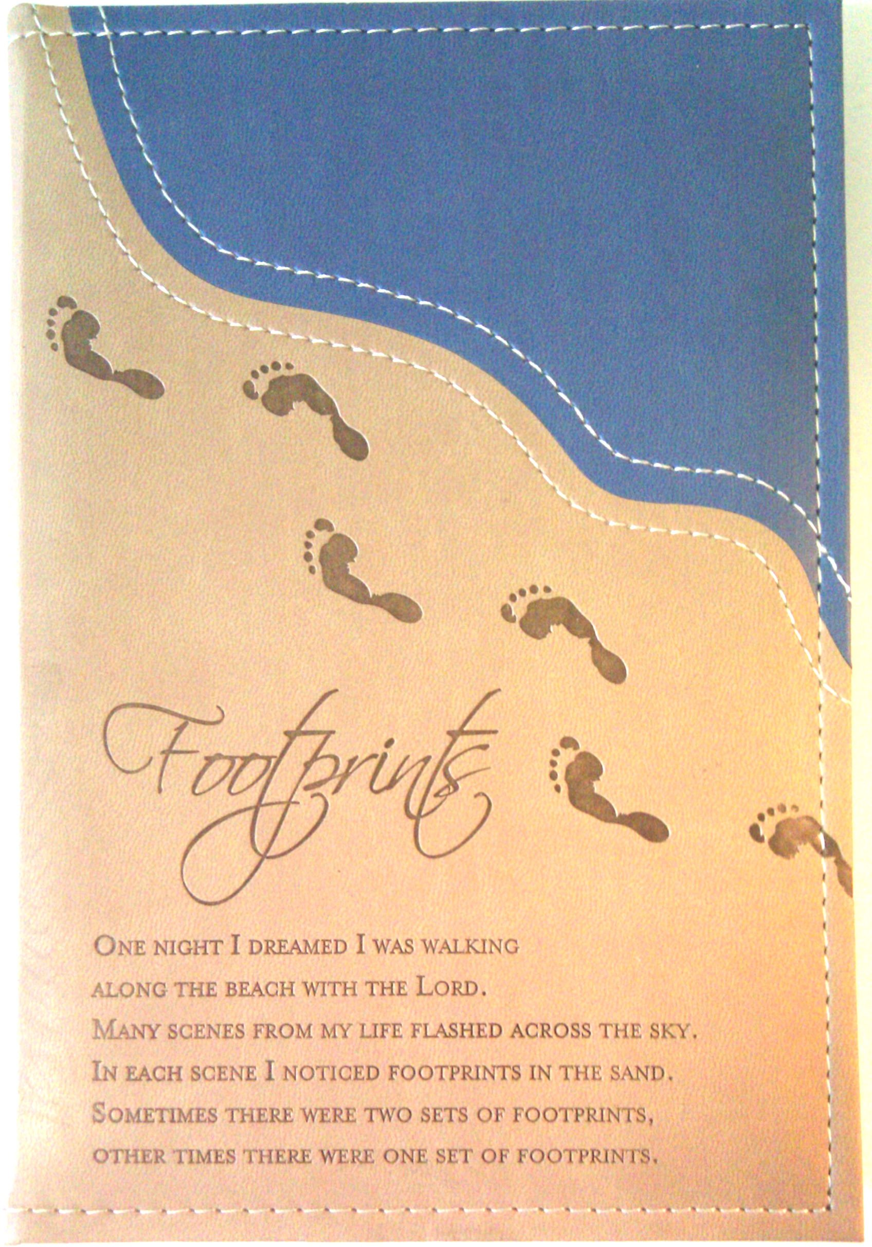 (Foot Prints In The Sand) 160 Page Soft Leatherette Notebook Journal