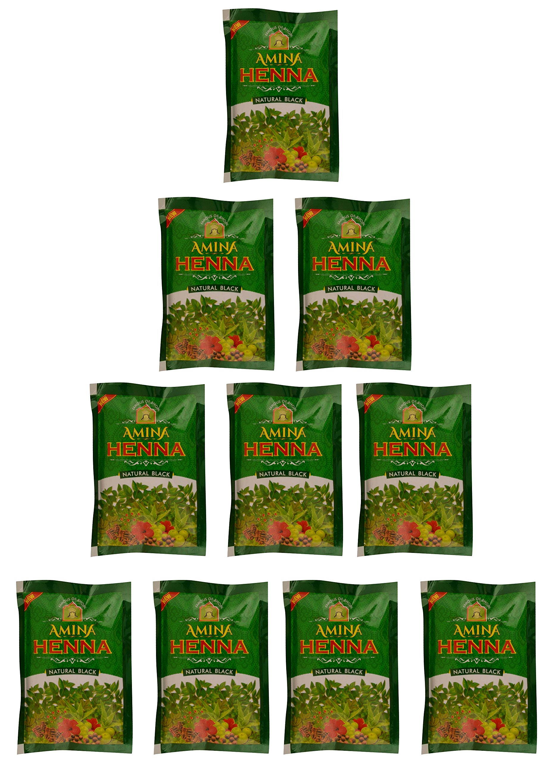Amina Henna, Natural Black 300 g (Pack of 10) product image