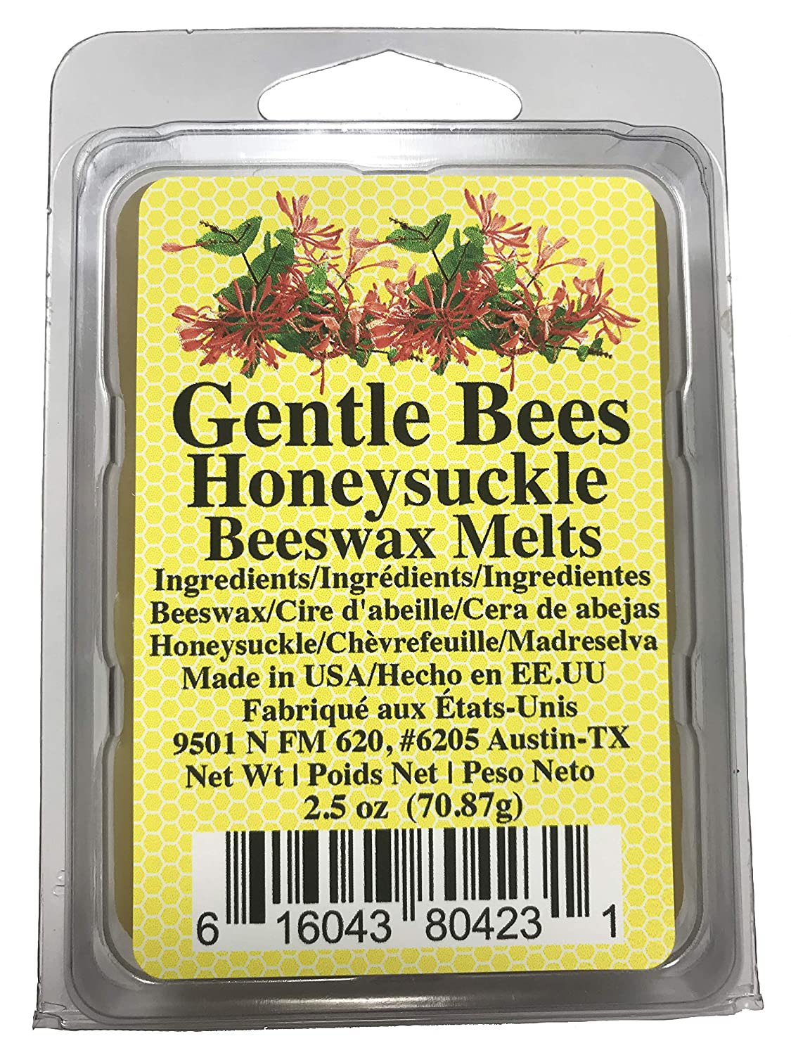 Gentle Bees 05 Honeysuckle Beeswax Melts Candle Frohne