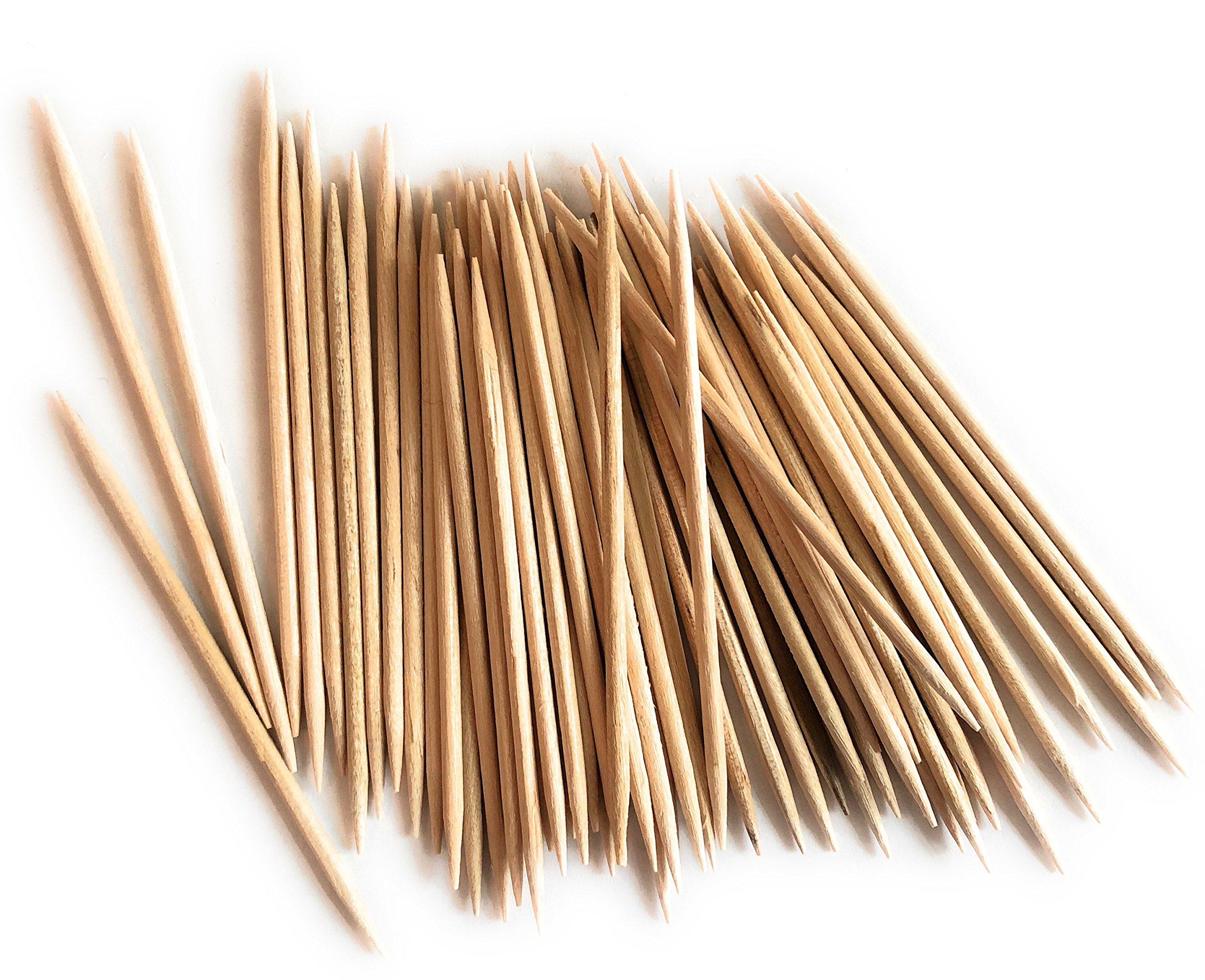 Round Wood Toothpicks, 4 Boxes of 800 Count