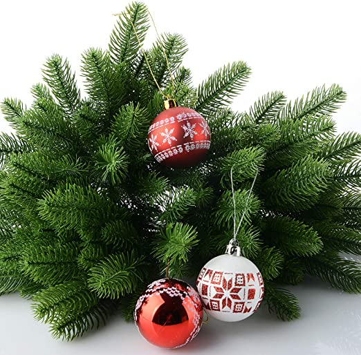 Plastic Pine Tree branches Artificial Plants Christmas Fall Holiday Decorations