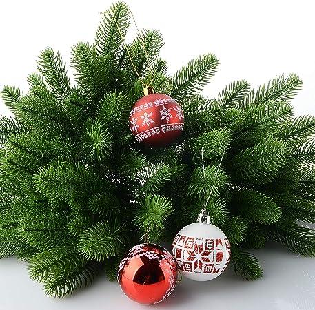 JYCRA Lot de 50 branches de sapin artificiel, plantes vertes, aiguilles de  pin, accessoires de fleurs pour couronne de Noël, décoration de jardin,