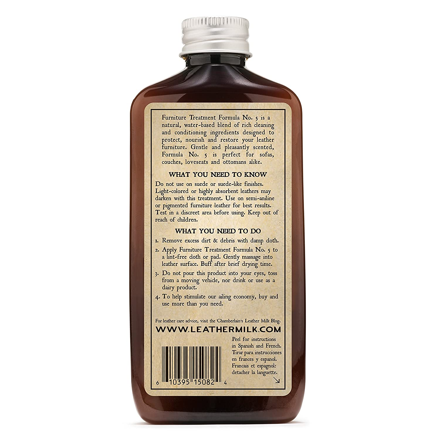 Amazon.com: Leather Milk Leather Furniture Conditioner And Cleaner    Furniture Treatment No. 5   For All Natural, Non Toxic Leather Care. Made  In The USA.