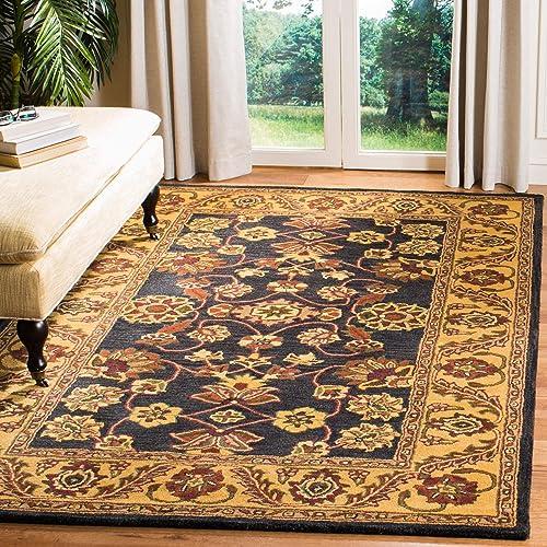 Safavieh Golden Jaipur Collection GJ250D Handmade Black and Gold Premium Wool Area Rug 9 x 12