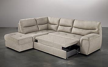 Dafnedesign.com - Sofá cama de esquina con chaise longue, de ...