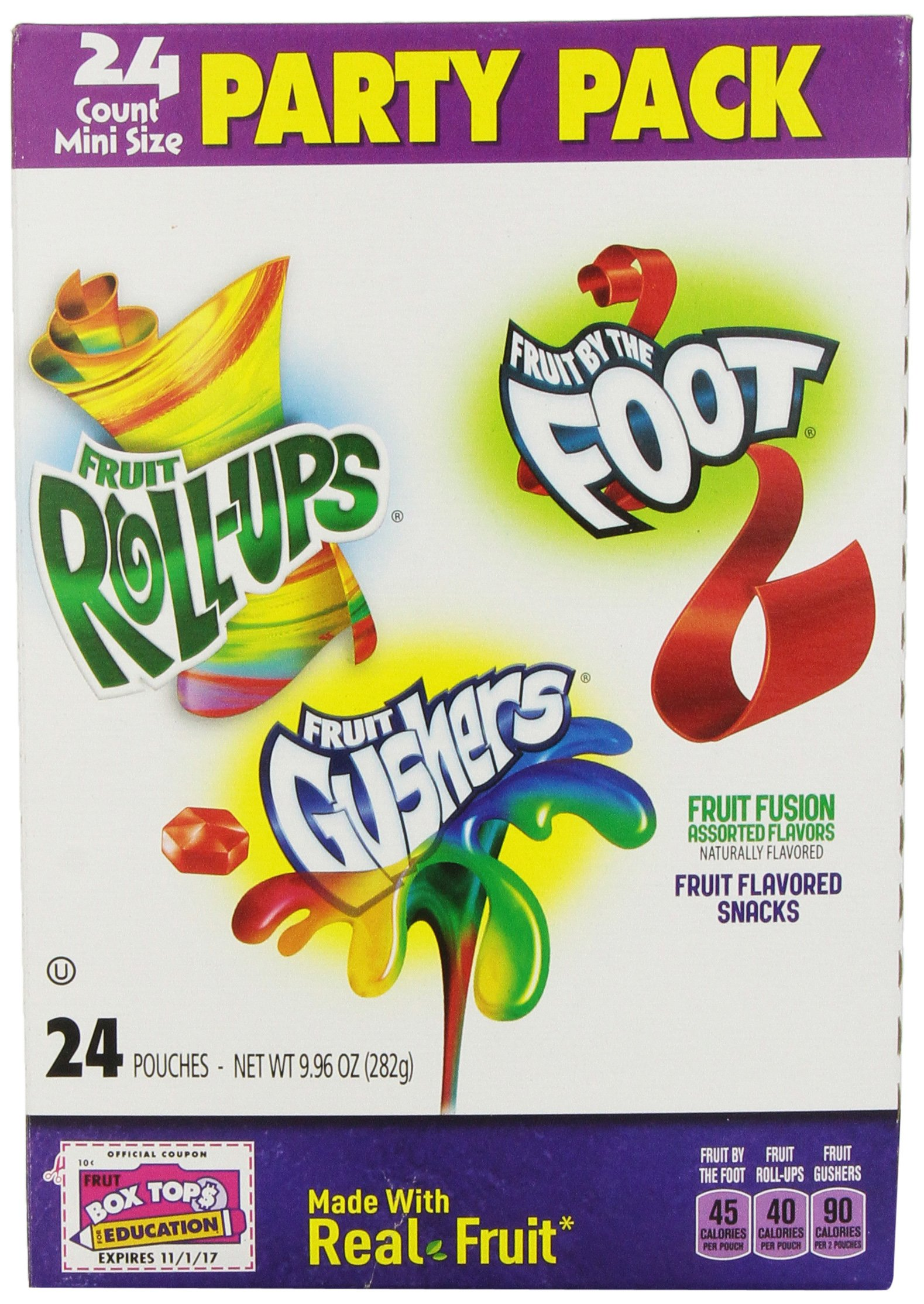 General Mills Party Pack, Fruit Fusion Assorted Flavors, 24 count, 9.96 oz, (Pack of 3) by Fruit Shapes