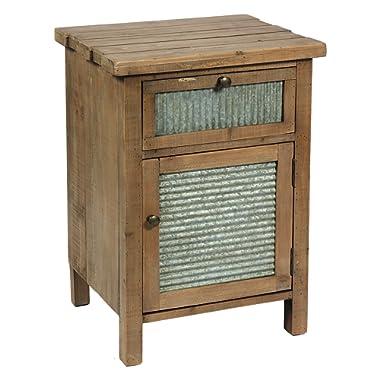 International Caravan Bradbury 1-Drawer Wood Nightstand