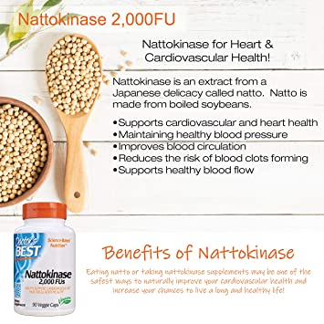 Doctor's Best Nattokinase 2,000 Fu, Non-GMO, Gluten Free, Vegan, Supports Cardiovascular and Circulatory Health, 90 Veggie Caps
