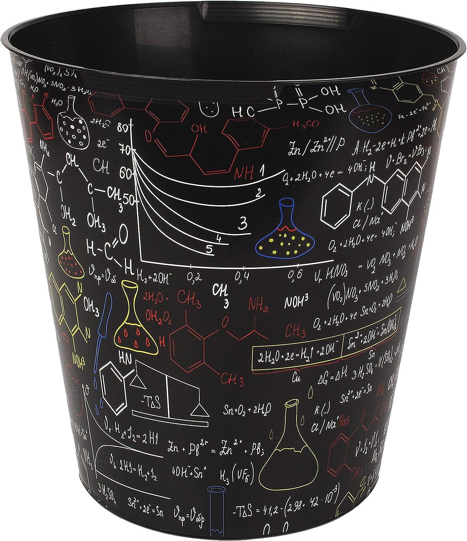 wasserdicht Name Schule /& Universit/ät Formeln /Ø 28 cm gro/ßer M/ülleimer //.. 10 Liter inkl Chemie Elemente aus Kunststoff alles-meine.de GmbH Papierkorb // Beh/älter