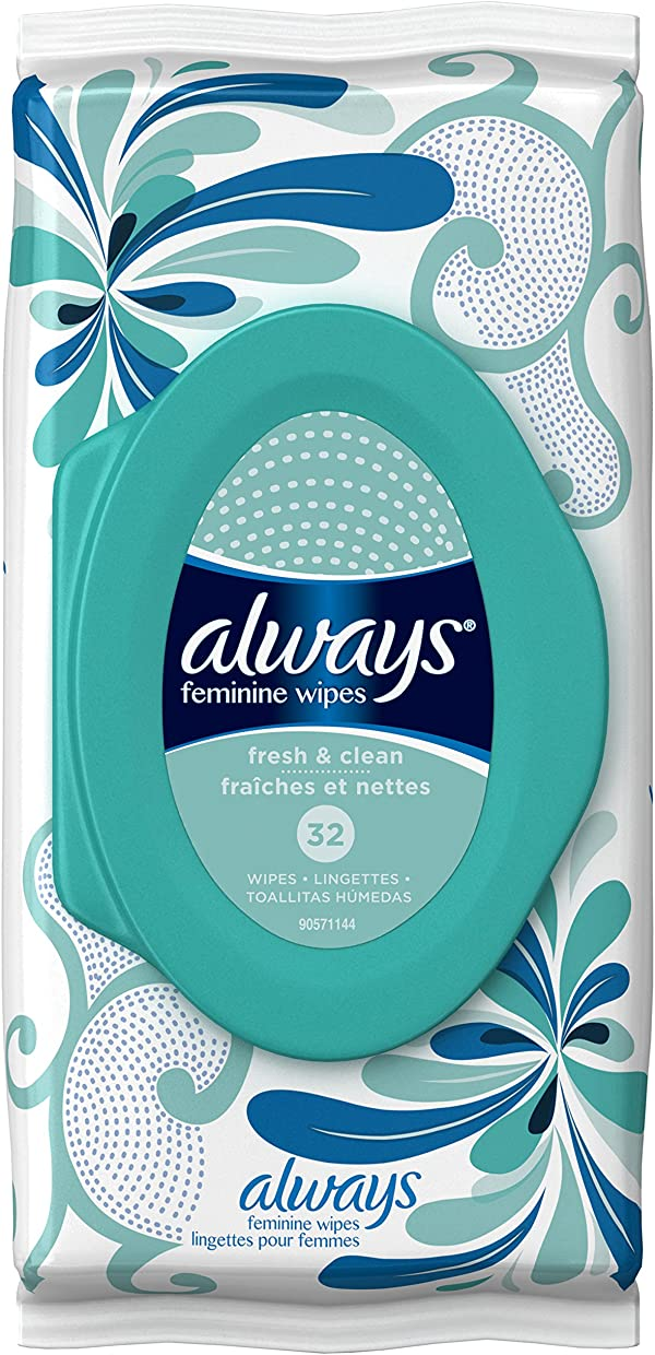 Always Feminine Wipes Lightly Scented, Fresh and Clean Scent
