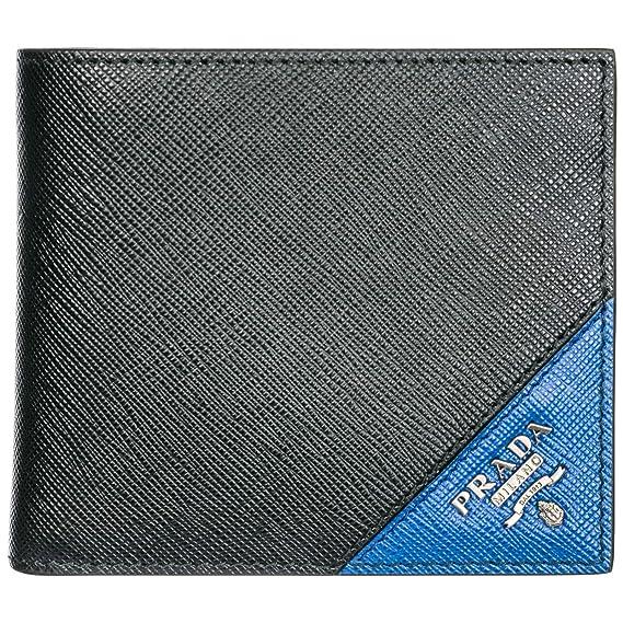 Prada monedero cartera bifold de hombre en piel nuevo negro: Amazon.es: Ropa y accesorios