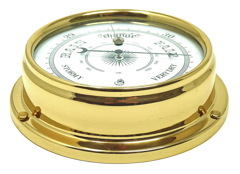 Laiton laqu/é lourds yacht Bateau Horloge 1//2KG la m/ét/éo Tabic traditionnel Barom/ètre Laiton cadeau Instrument faite /à la main en Angleterre