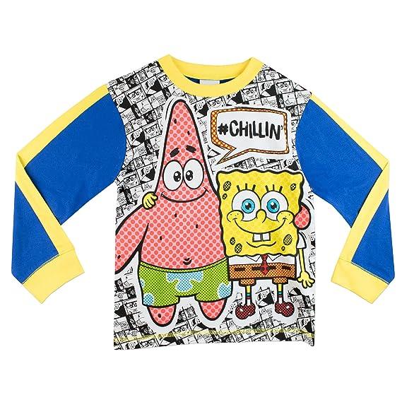041e7aa9ed Bob Esponja - Pijama para Niños - Spongebob Squarepants  Amazon.es  Ropa y  accesorios