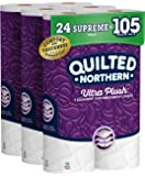 Quilted Northern Ultra Plush Toilet Paper, 24 Supreme Rolls, 24 = 99 Regular Rolls, 3 Ply Bath Tissue,8 Count (Pack of 3…