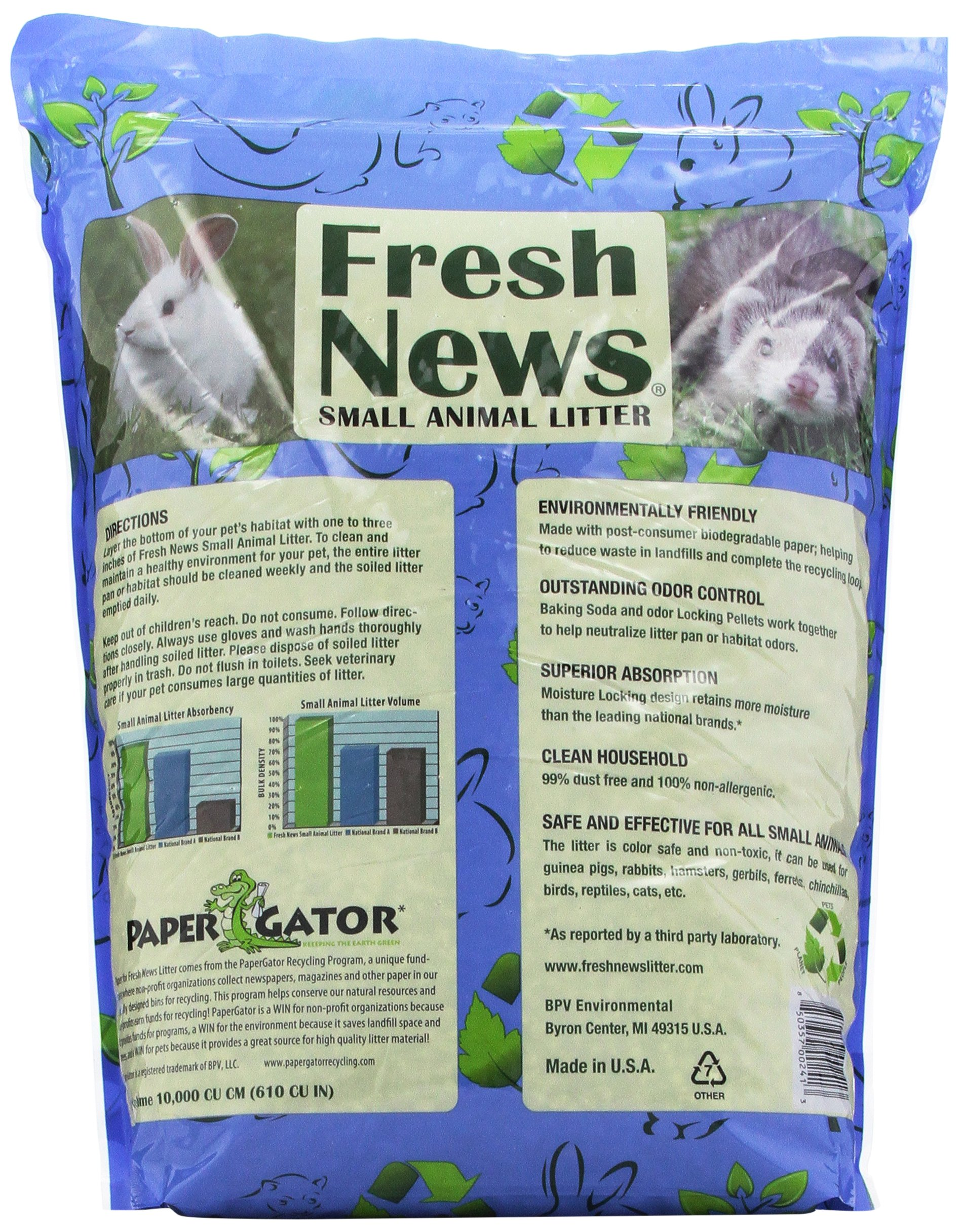 Fresh News Paper Small Animal Litter, 10,000-Cubic Centimeter by Fresh News