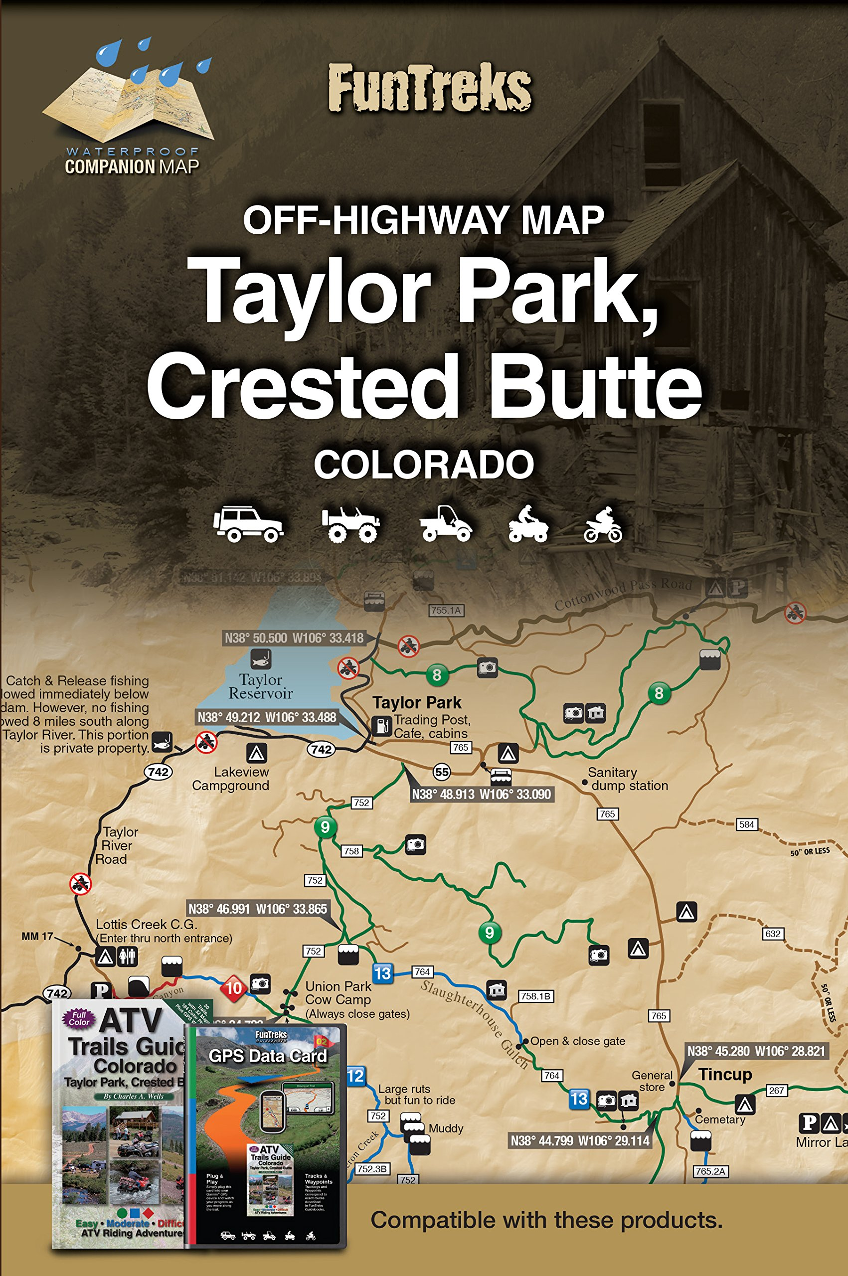 Taylor Park Colorado Map.Off Highway Map For Taylor Park Crested Butte Colorado Funtreks