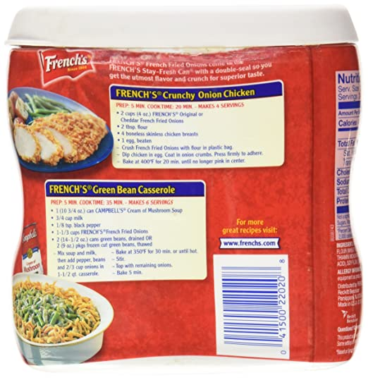 Amazon Com French S French Fried Onions Original 6 Ounce Onion