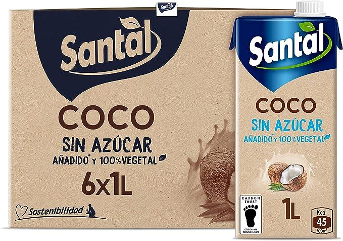 Santal Bebida Vegetal Coco Sin Azúcar Añadido 6x1L