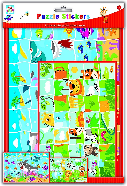 Arts /& Crafts Puzzle Sticker Set 29.7x21x2 cm Anker Kids Create Assorted A4//A5