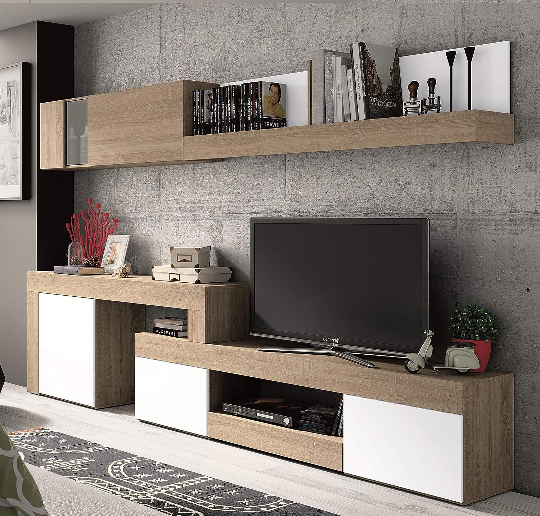 Mobelcenter - Mueble Salón Logan 003 - Blanco y Cambrian ...