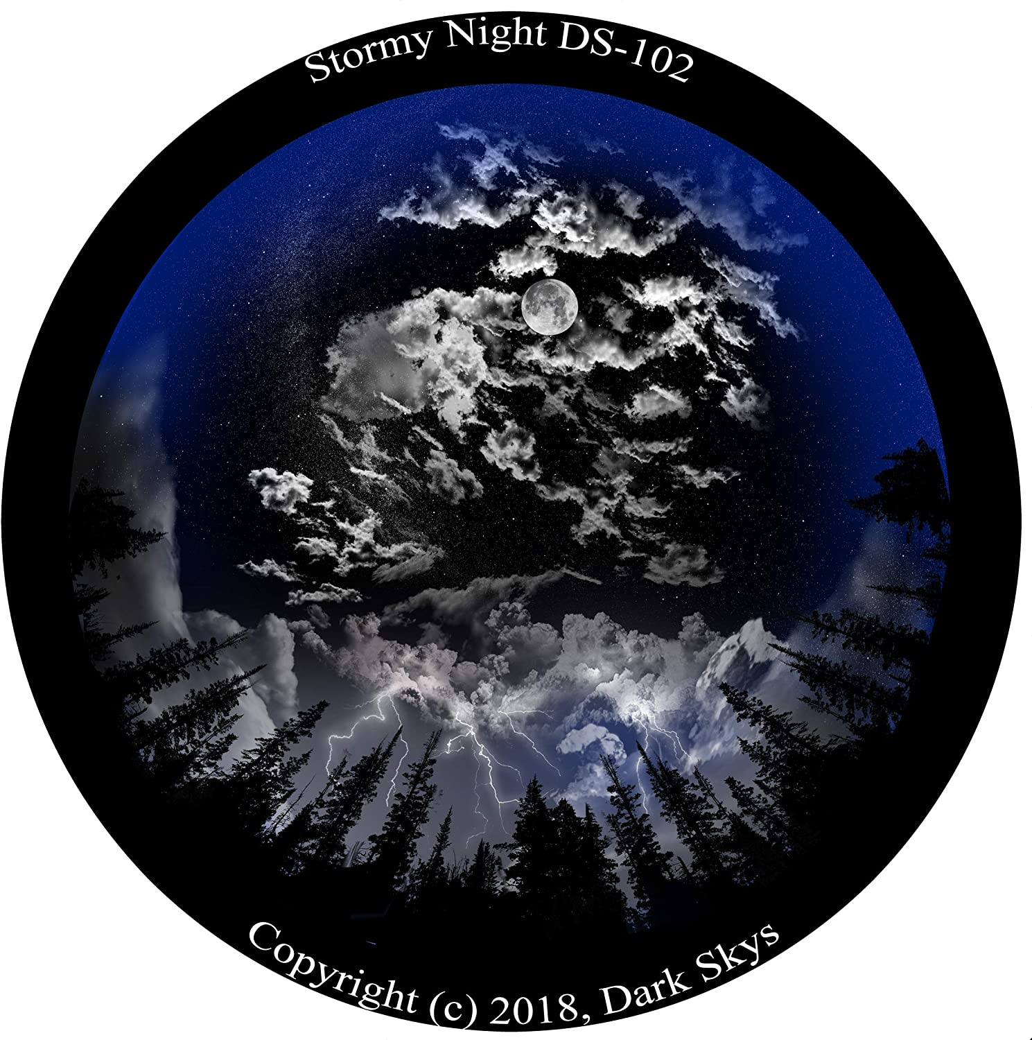 Stormy Night Disc for for Uncle Milton Star Theater Pro/Nashika NA-300 Home Planetarium