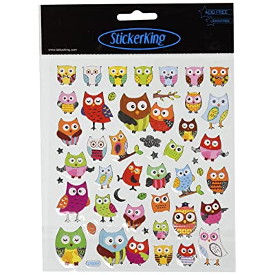 Tattoo King Multi-Colored Stickers-Wide Eyed Owls: Arts, Crafts & Sewing