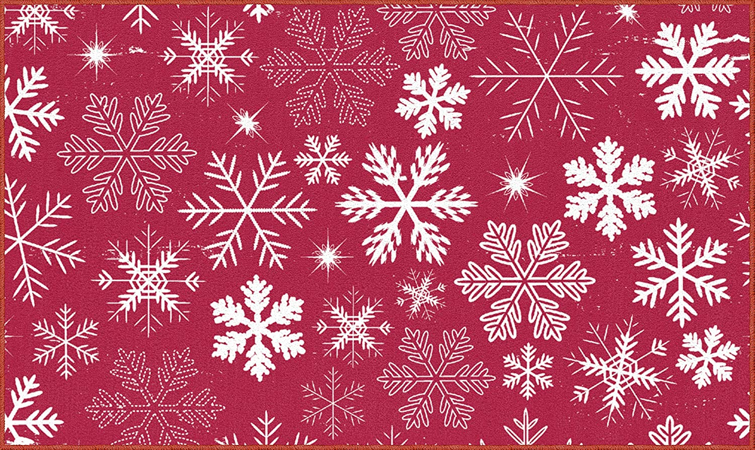 Mohawk Home Snowflakes Red Area Rug, 2'6x4'2