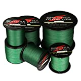Spectra Extreme Braid Braided Fishing Line 6-300LB Test 100m-2000m Moss Green