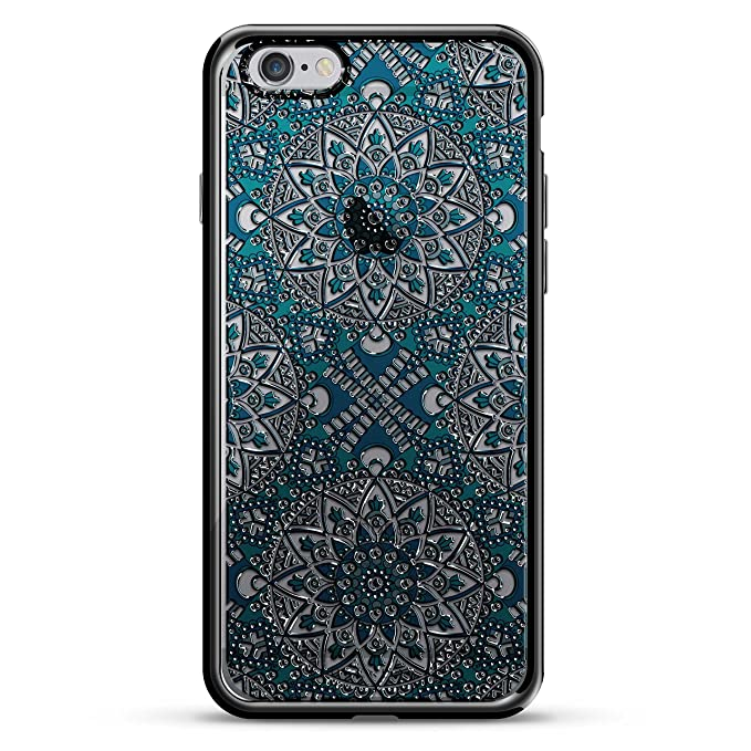 lowest price ac267 1ede1 Luxendary Blue Boho Style Pattern Design Chrome Series Case for iPhone 6/6S  Plus - Titanium Black