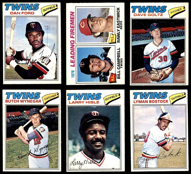 1977 O-Pee-Chee Minnesota Twins Near Team Set Minnesota Twins (Baseball Set) Dean's Cards 6 - EX/MT Twins 91dTZHVs7uL