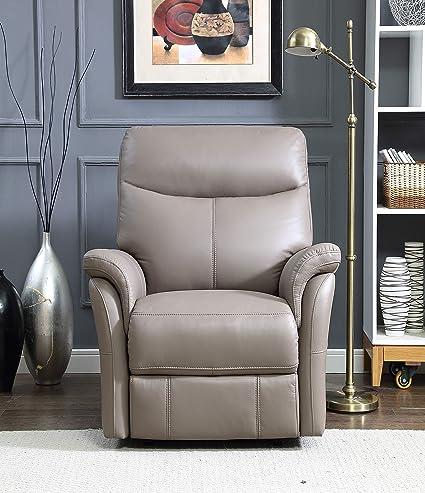 Amazon.com: Hydeline Louie - Silla reclinable de piel de ...