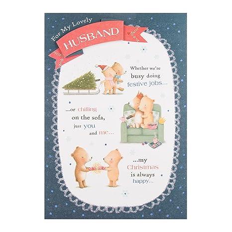 Auguri Di Natale Per Il Marito.Hallmark Biglietto Marito You And Me Auguri Di Natale Amazon It