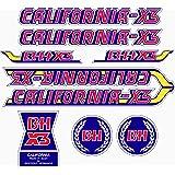 Kit de adhesivos motos clasicas BH California X2 - Juego Pegatinas ...