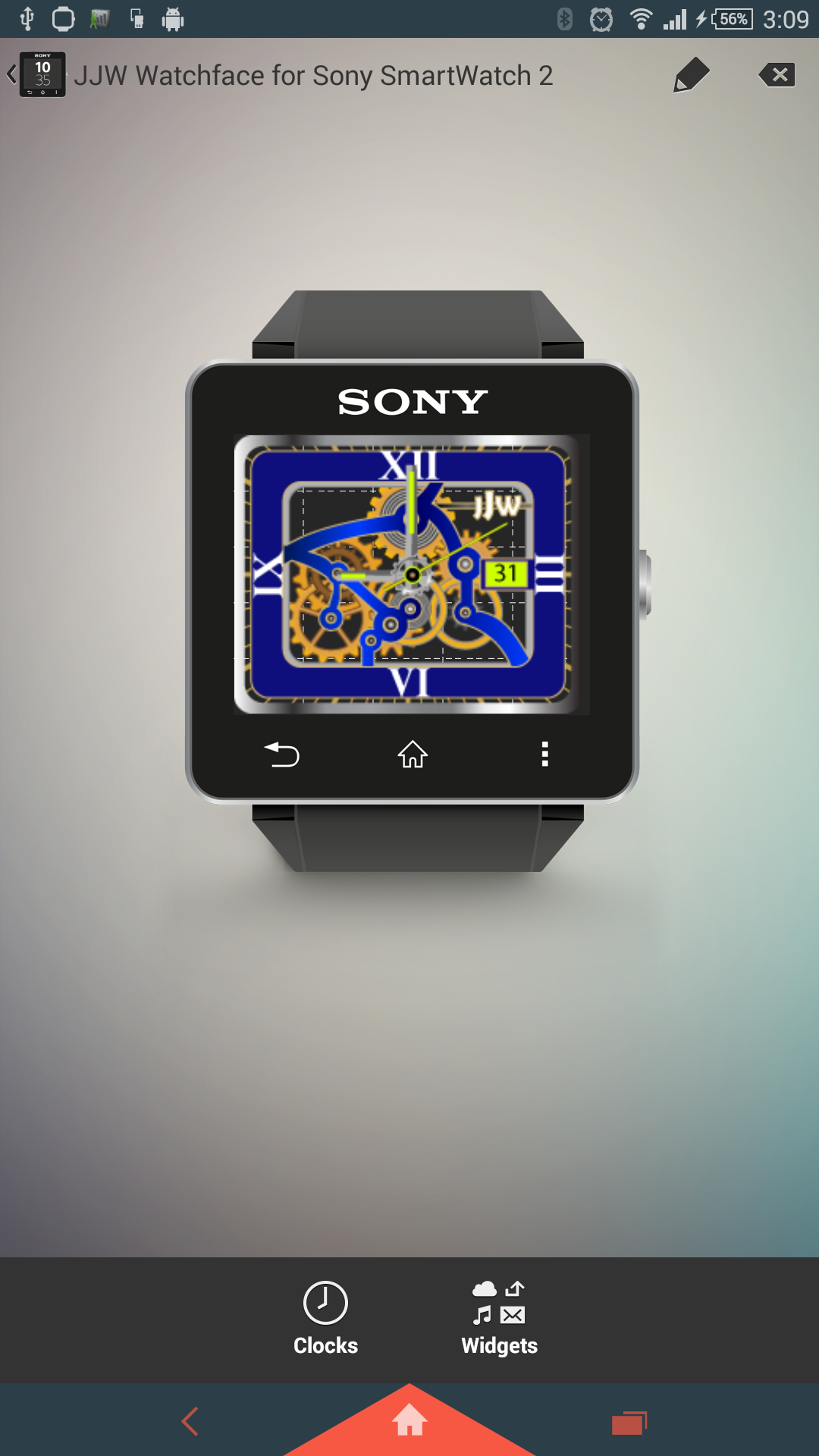 JJW Animated Gear Watchface 3 for SmartWatch 2: Amazon.es ...
