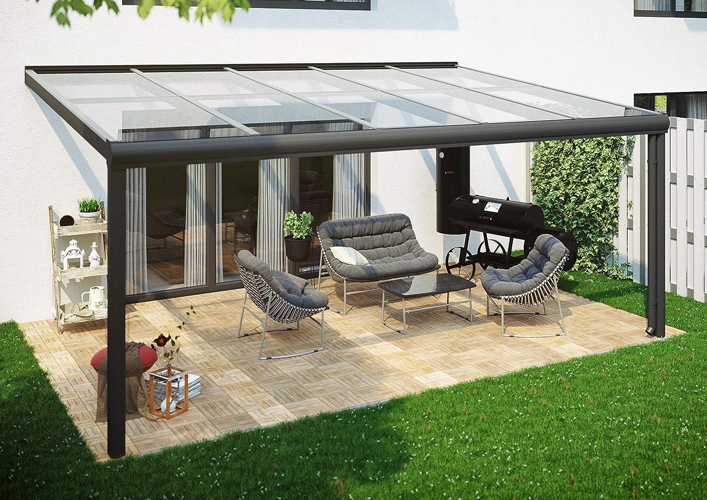Skan Holz Terrassenüberdachung 541 x 357 cm, Aluminium, Anthrazit Cubierta para terraza Modena, Aluminio, Antracita: Amazon.es: Jardín